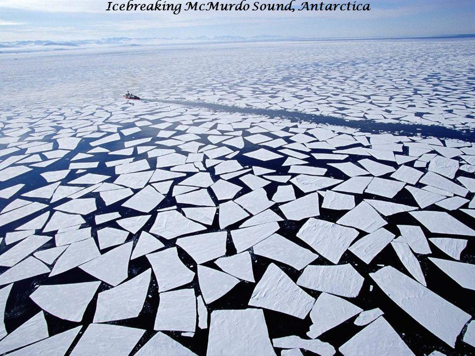 Icebreaking McMurdo Sound, Antarctica