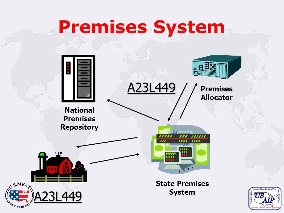 13 Premises System State Premises System Premises Allocator A23L449 National Premises Repository A23L449