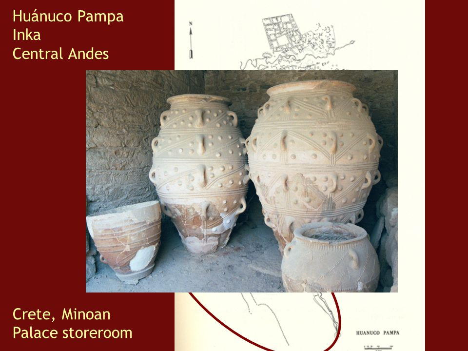 Huánuco Pampa Inka Central Andes Crete, Minoan Palace storeroom
