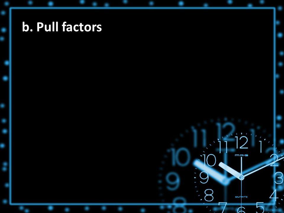 b. Pull factors