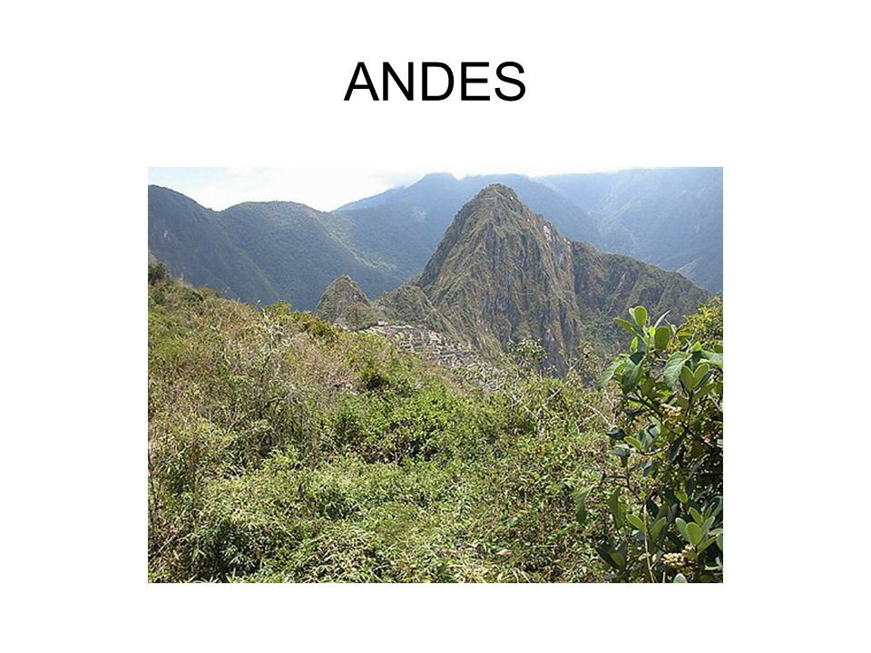 South American Mountain Ranges AndesAndes – Longest chain in the world – 2 nd highest range in the world – Run from Chile to Panama