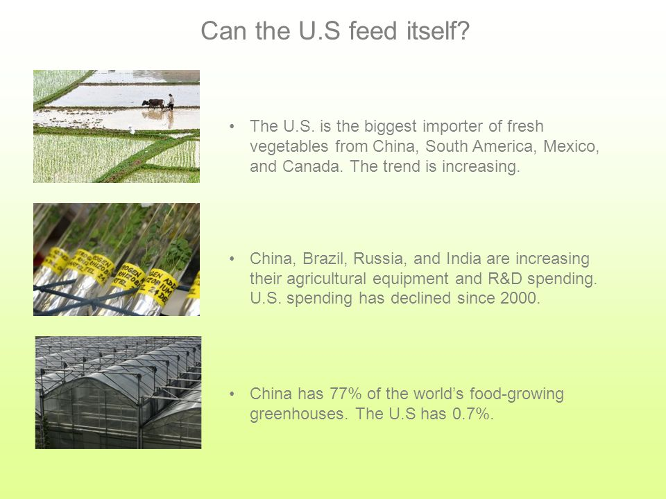 Where will your food come from. 85% of your food is not grown locally.