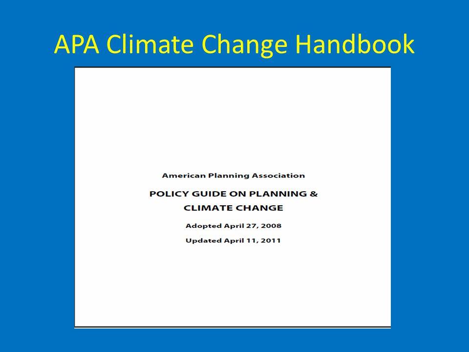 APA Climate Change Handbook