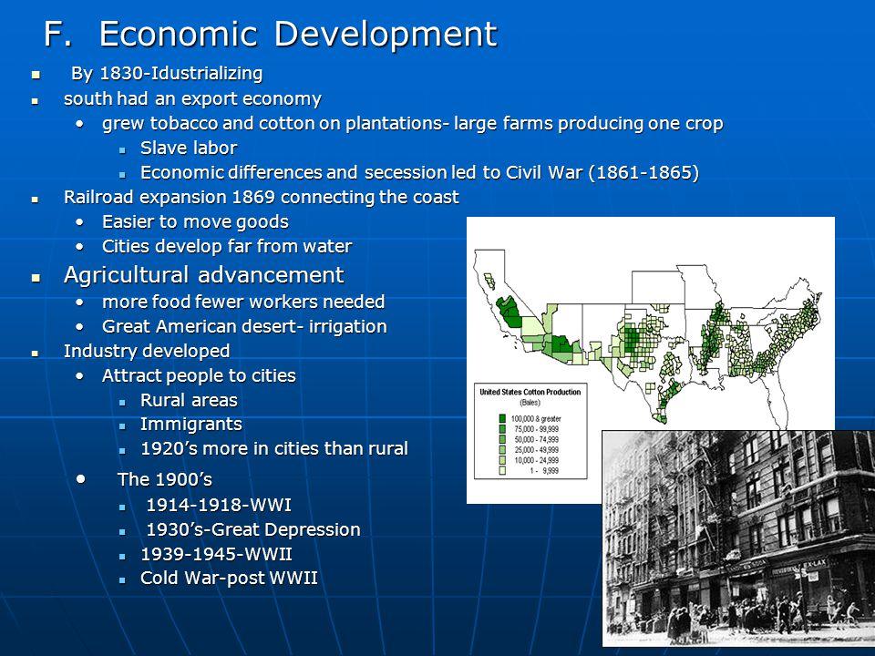 F. Economic Development F.