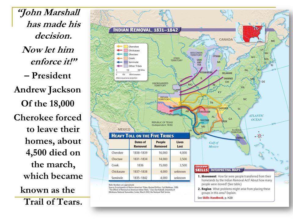 John Marshall has made his decision.