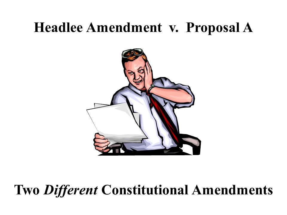 In 1978 the Headlee Amendment passed to limit the amount of revenue government could collect.