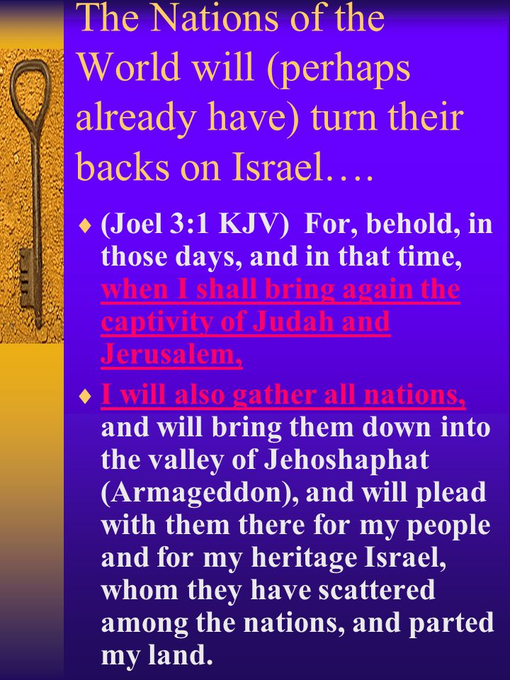 Jerusalem is the center of the problem Zechariah 12:2 Behold, I will make Jerusalem a cup of trembling unto all the people round about, when they shall be in the siege both against Judah and against Jerusalem.