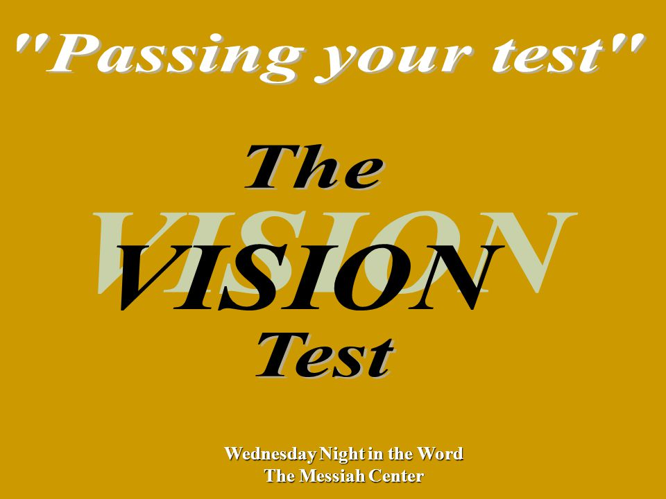 Wednesday Night in the Word The Messiah Center