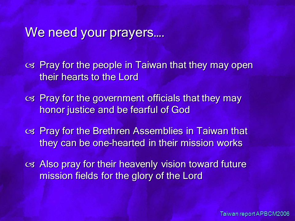 We need your prayers….