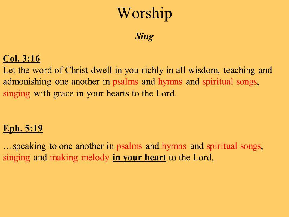 Worship Sing Col.