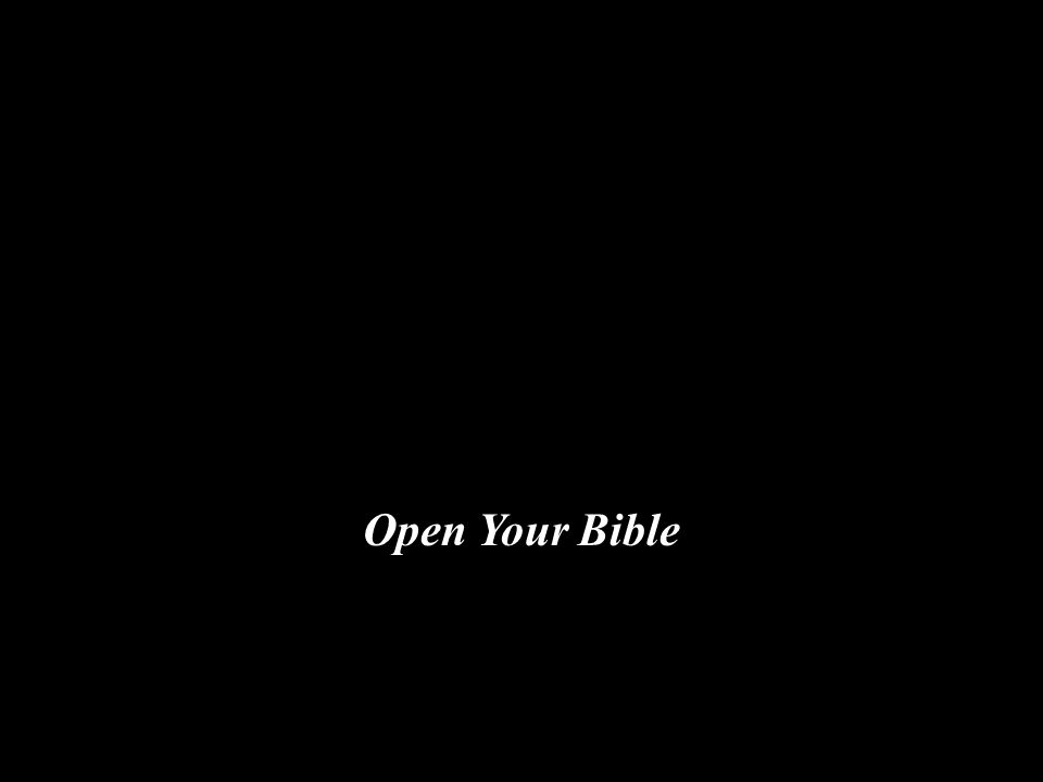 Open Your Bible