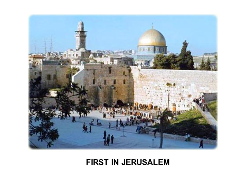 Jerusalem conference (Acts 15) 1.State present positions...
