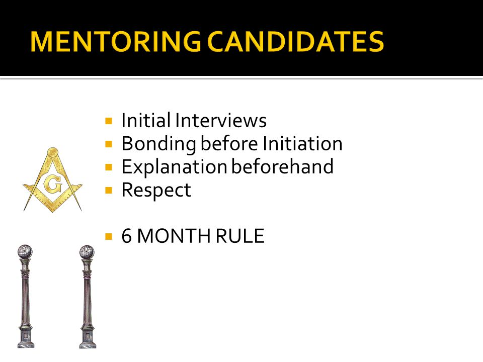IInitial Interviews BBonding before Initiation EExplanation beforehand RRespect 66 MONTH RULE
