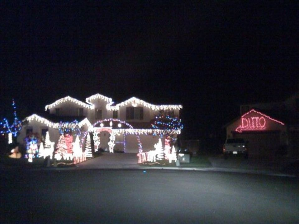 Wondering about decorating the house for Christmas? But can't compete with your mega-decorating neighbors?