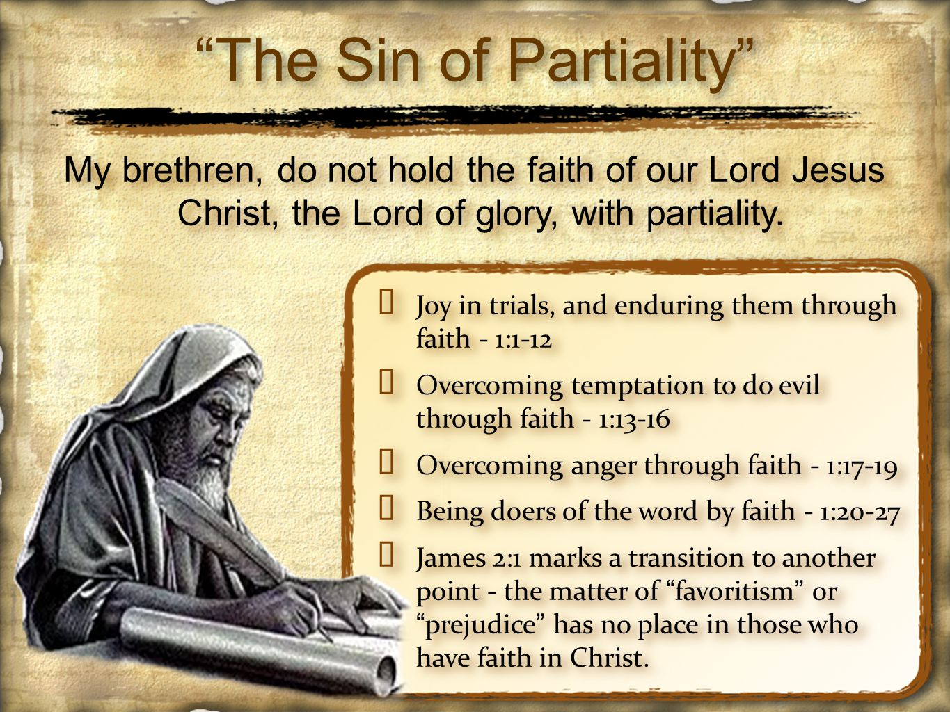 ✦ In the first century, A.D., polarized conditions governed society; people were either rich or poor, slaves or free, Jew or Gentile, Greek or barbarian ✦ However, in Christ Jesus all social barriers are torn down - (Acts 10:34,35; Col.