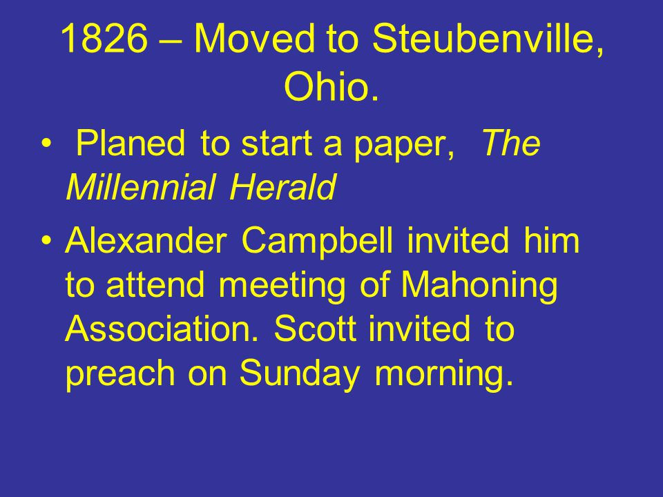 Difficulties Alexander Campbell was reluctant to accept the union He rejoiced at the meeting at Lexington but saw a union of whole brotherhood was premature.