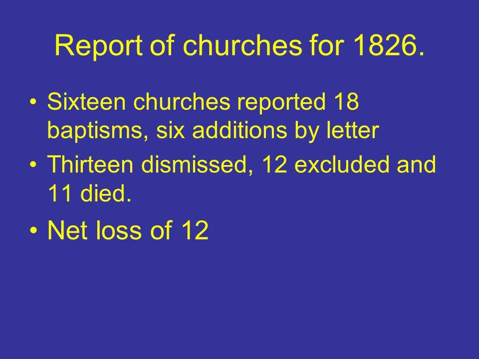 1828 Scott appointed evangelist for second year.William Hayden appointed to help Scott.
