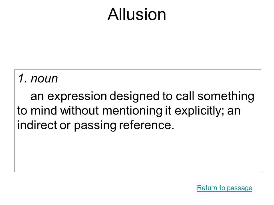 Allusion 1.