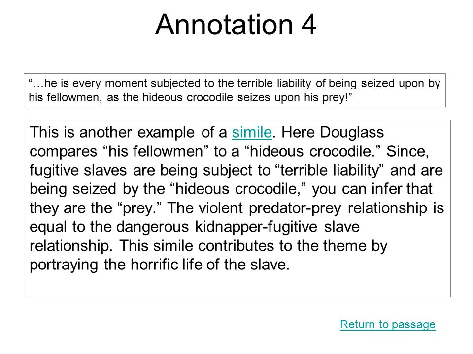 Annotation 4 This is another example of a simile.