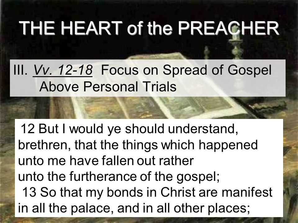 14 THE HEART of the PREACHER III. Vv.