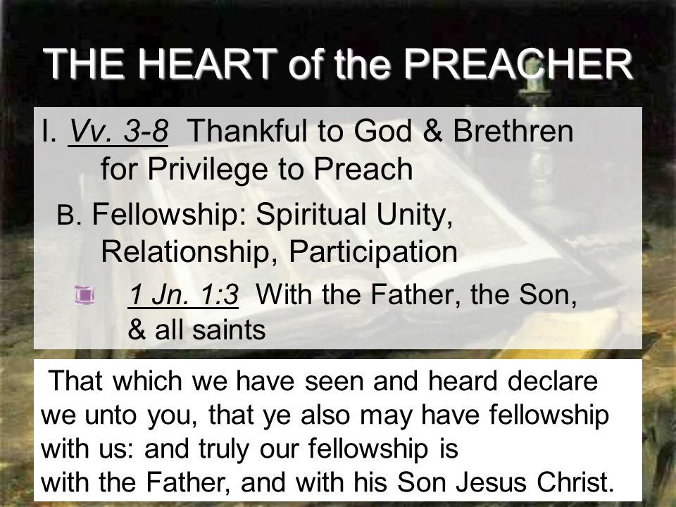 9 THE HEART of the PREACHER II.Vv.