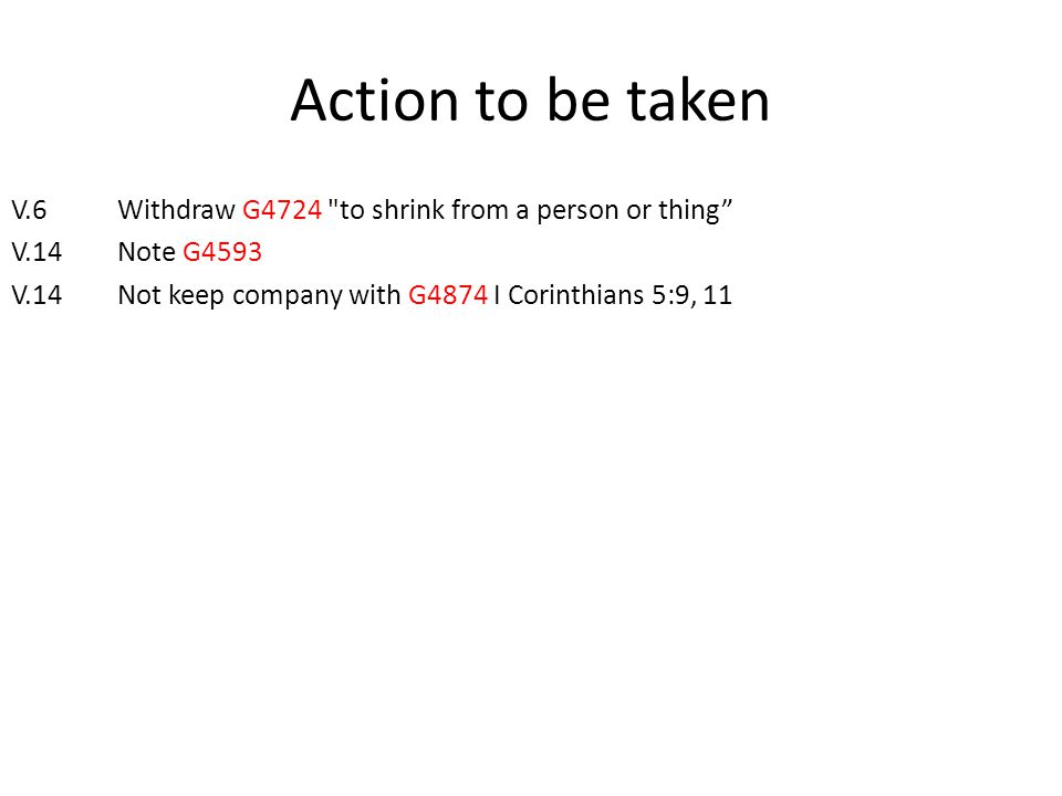 Action to be taken V.6Withdraw G4724