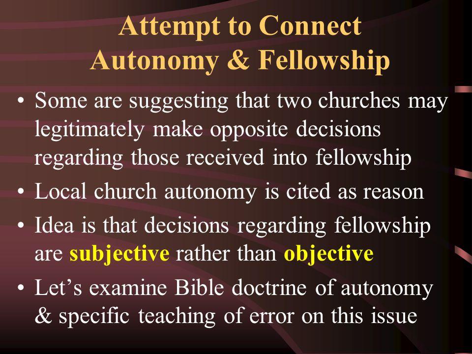 Understanding Autonomy