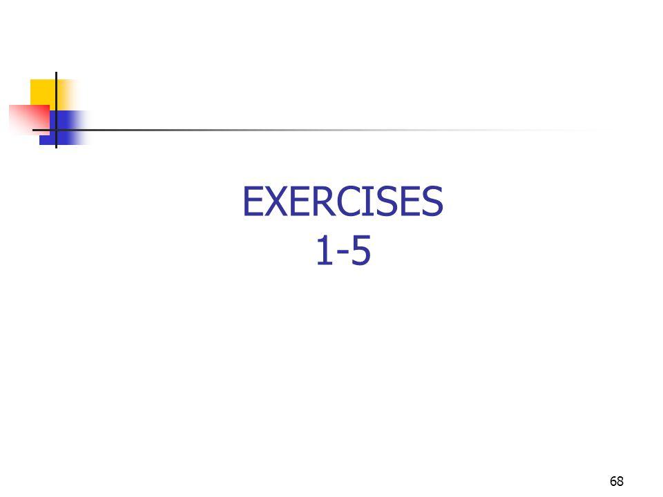 68 EXERCISES 1-5