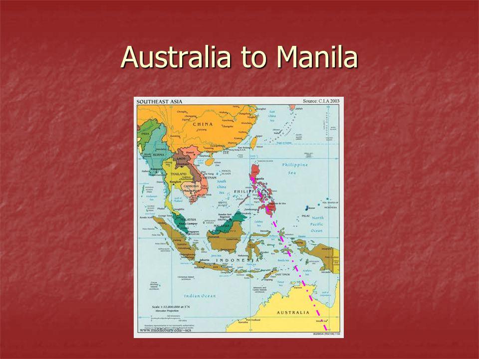 Australia to Manila