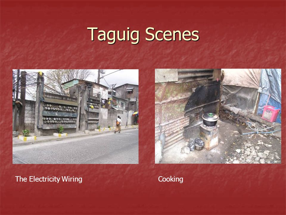 Taguig Scenes The Electricity WiringCooking