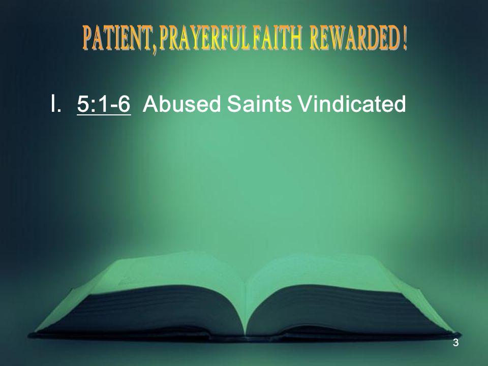 14 II.5:7-12 Patient Saints Blessed A.