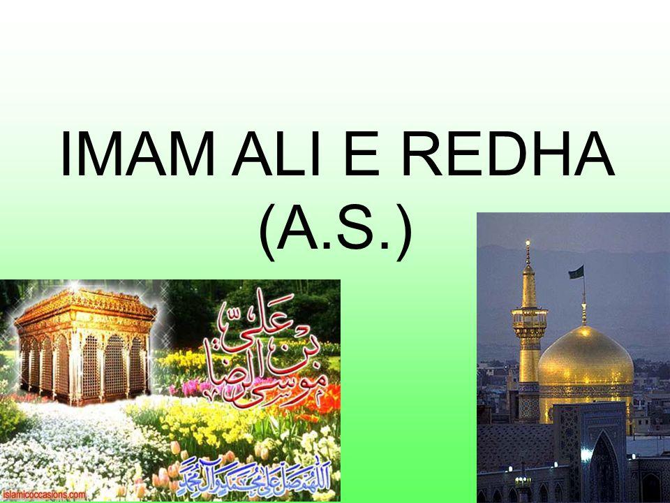 IMAM ALI E REDHA (A.S.)