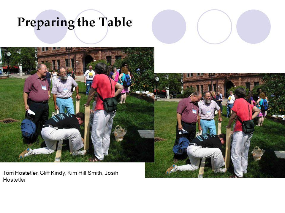 Preparing the Table Cont. Kim Hill Smith, Tom Hostetler, Jon Magley, Cliff Kindy