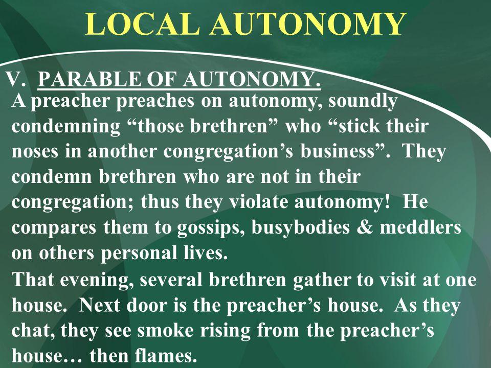 LOCAL AUTONOMY V. PARABLE OF AUTONOMY.