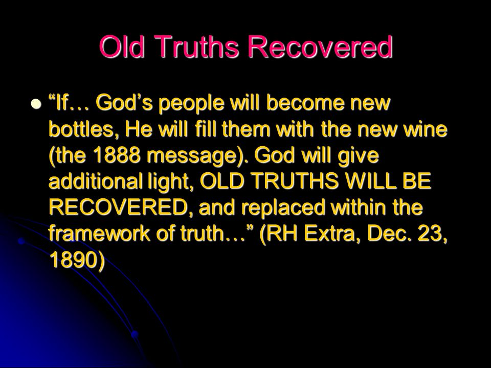 The Sin of Light Rejection God's servants have no tame testimony to bear at this time… He who rejects the light… rejects Christ. (Letter, May 31, 1896 to OA Olsen) God's servants have no tame testimony to bear at this time… He who rejects the light… rejects Christ. (Letter, May 31, 1896 to OA Olsen)