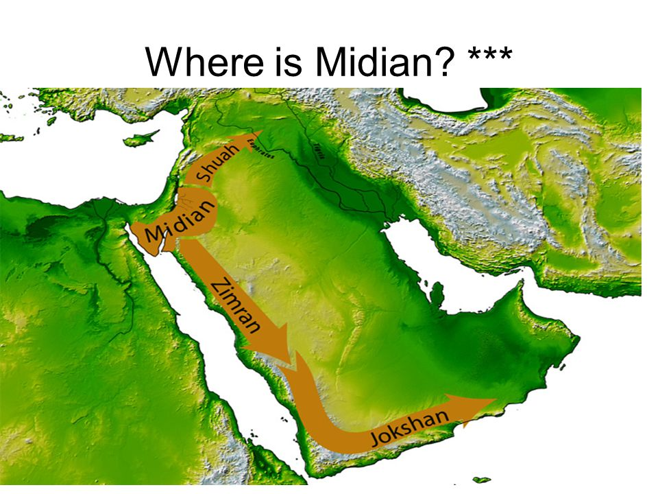 Where is Midian? ***