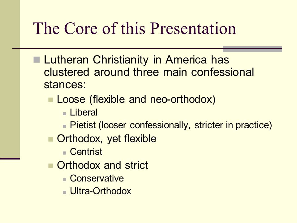 Formation of the Lutheran Church Three Phases: Phase 1: Struggle and establishment Phase 2: Consolidation (Orthodoxy) Phase 3: Response to Orthodoxy (Pietism) and moves toward the New World