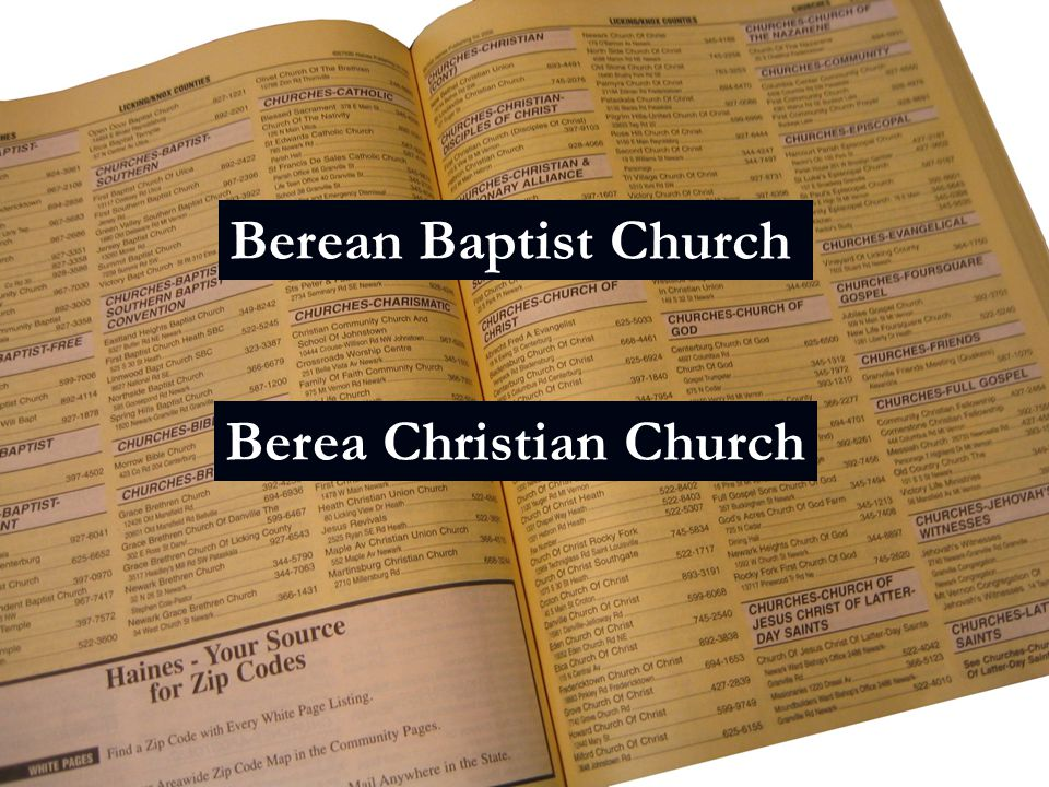 Berean Baptist Church Berea Christian Church