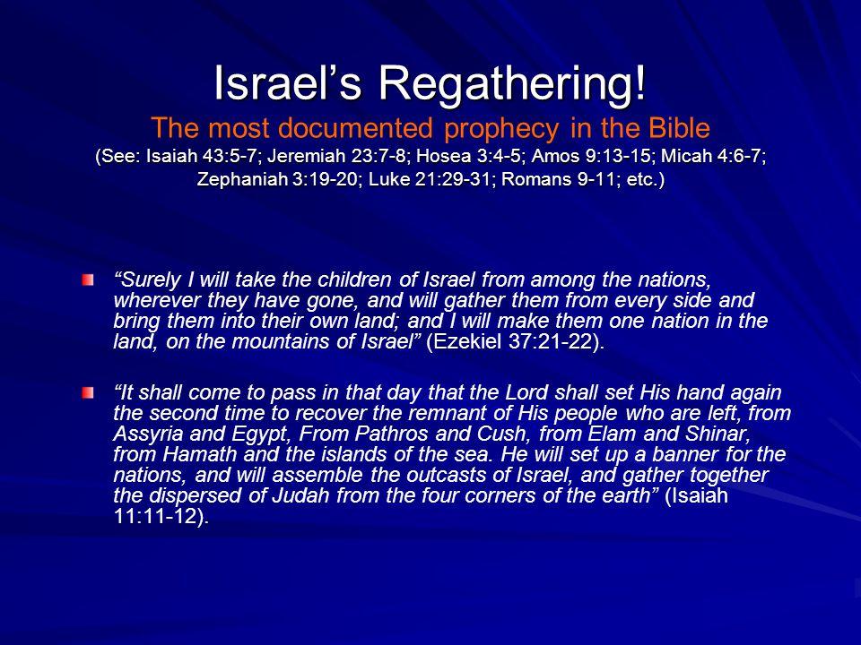 Israel's Regathering.