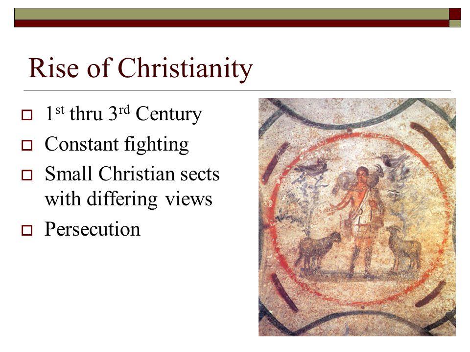 Rise of Christianity Roman Empire in 325c.e.