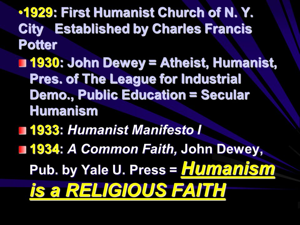 1929: First Humanist Church of N. Y.