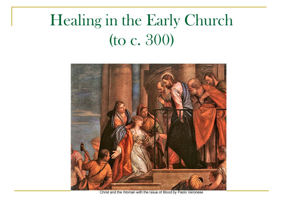 Healing in the Early Church Healing and the ministry of Jesus  Healing and mission  Healing as mission Health of body/Health of soul  Sickness and sin  Power to heal and power to forgive