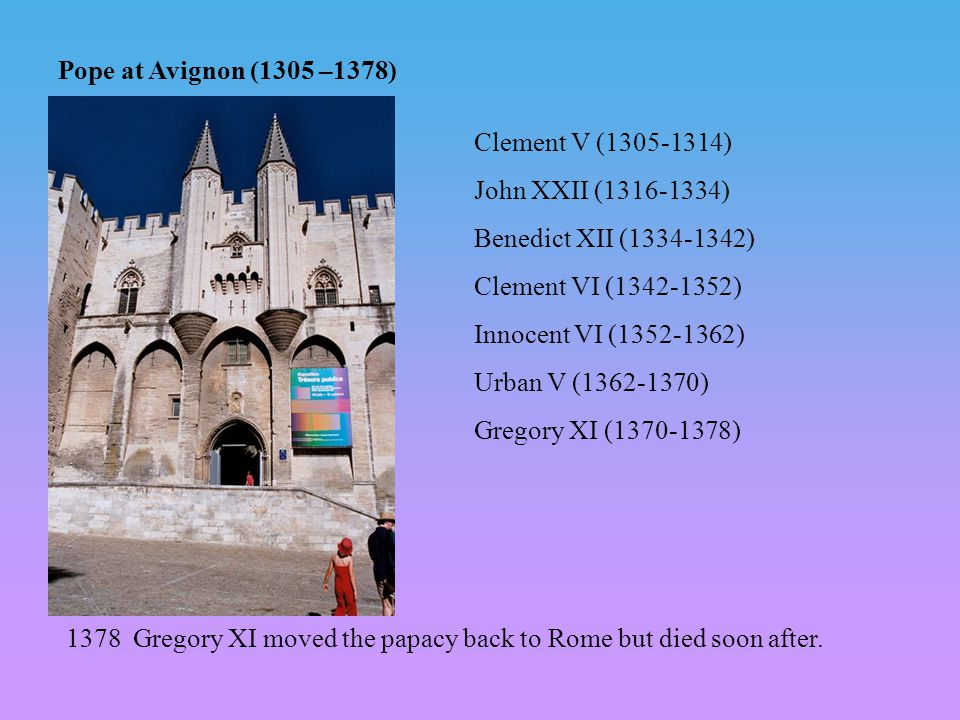 Great Schism of the papacy (1378 – 1414) Gregory IX (d.