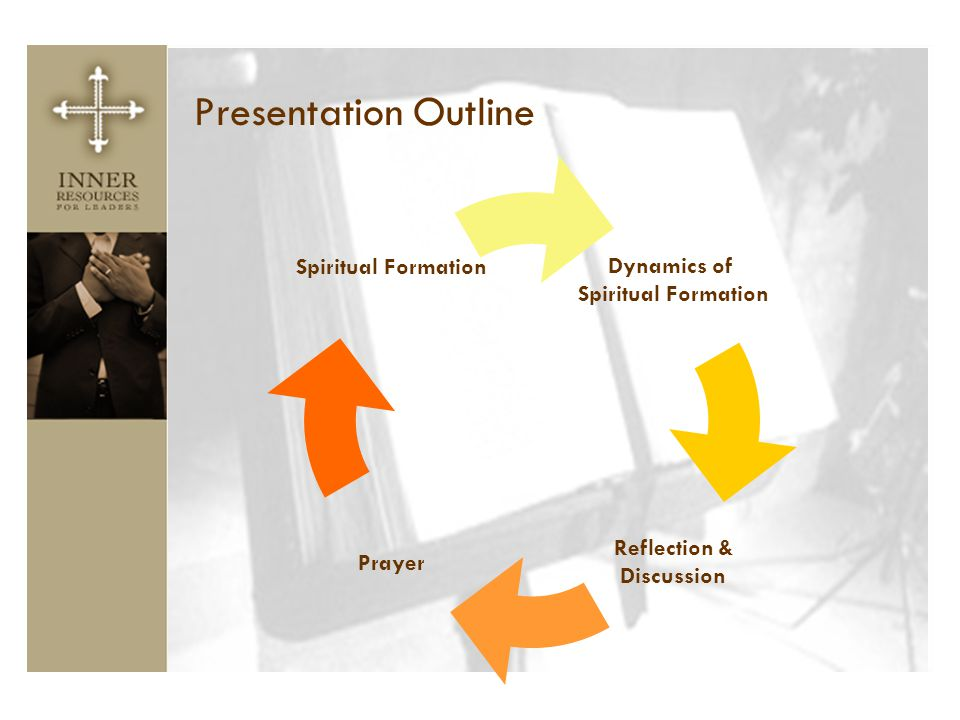 Presentation Outline Dynamics of Spiritual Formation Reflection & Discussion Prayer Spiritual Formation