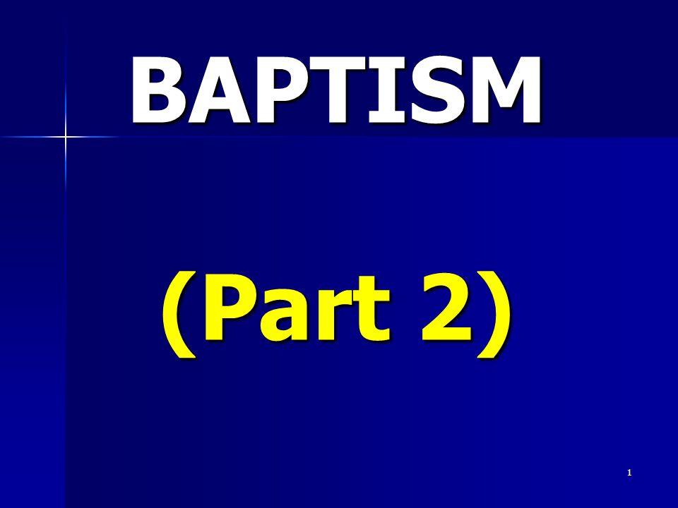 1 BAPTISM (Part 2)