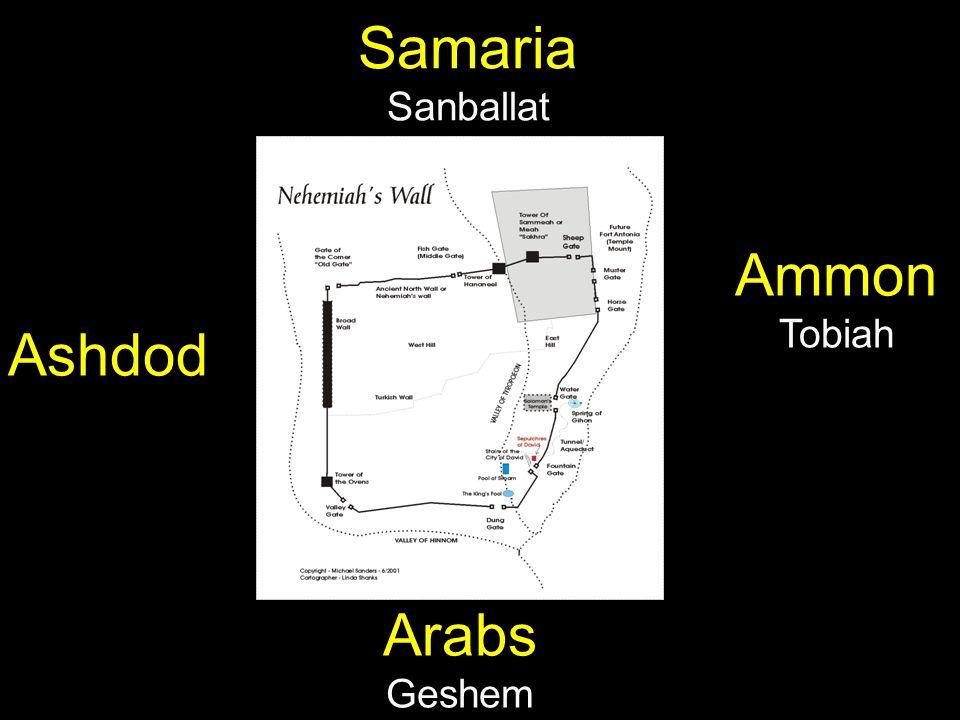 Ashdod Ammon Tobiah Samaria Sanballat Arabs Geshem