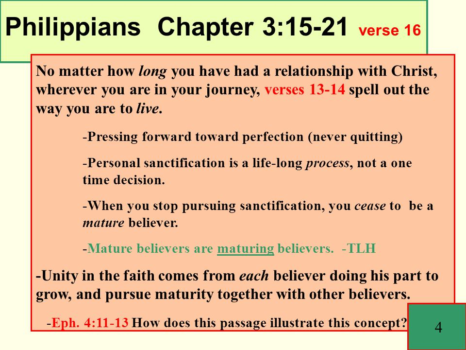Philippians Chapter 3:15-21 15 Conclusion: -Simply put, you can't serve God and yourself; you have to pick one.
