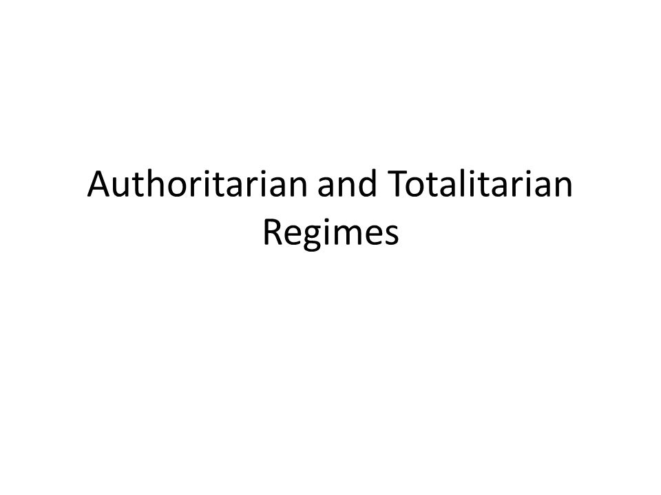 Role conception Concomitant role conceptions differentiate totalitarians from authoritarians.
