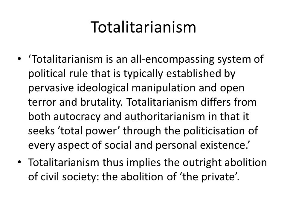 'Consequently, the utilisation of power for personal aggrandisement is more evident among authoritarians than totalitarians.