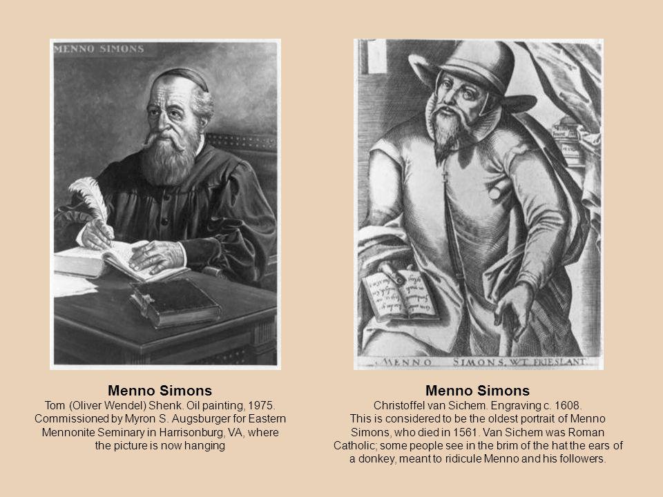 Menno Simons Christoffel van Sichem. Engraving c.